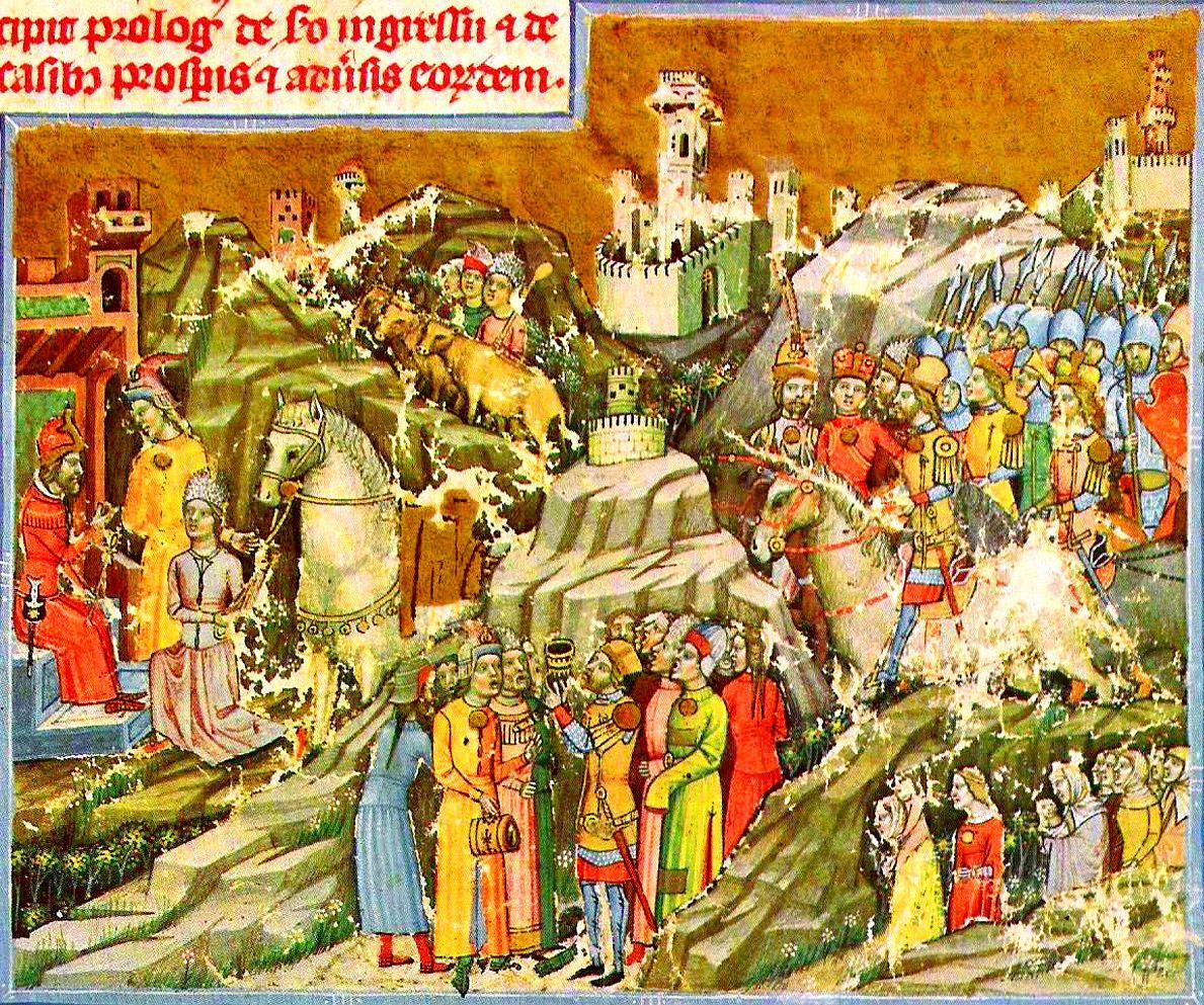 A honfoglalás a Képes Krónikában (Forrás: Wikipedia)