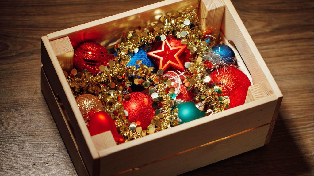 karácsony, díszek, tárolás
