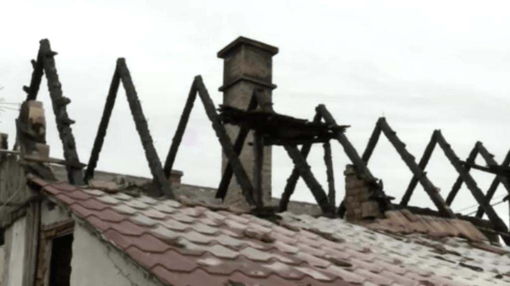 leégett ház