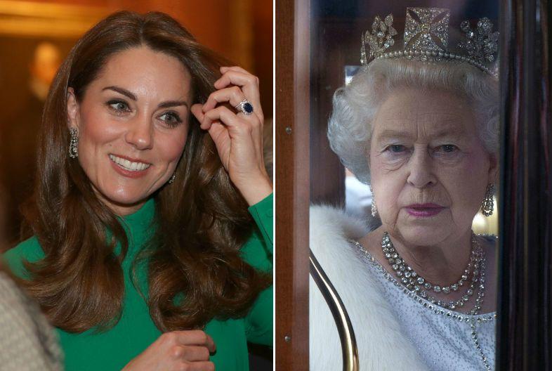 Katalin hercegné II. Erzsébet fülbevaló