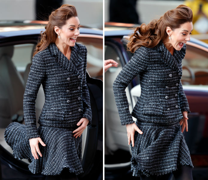 Katalin hercegné szoknyabaleset