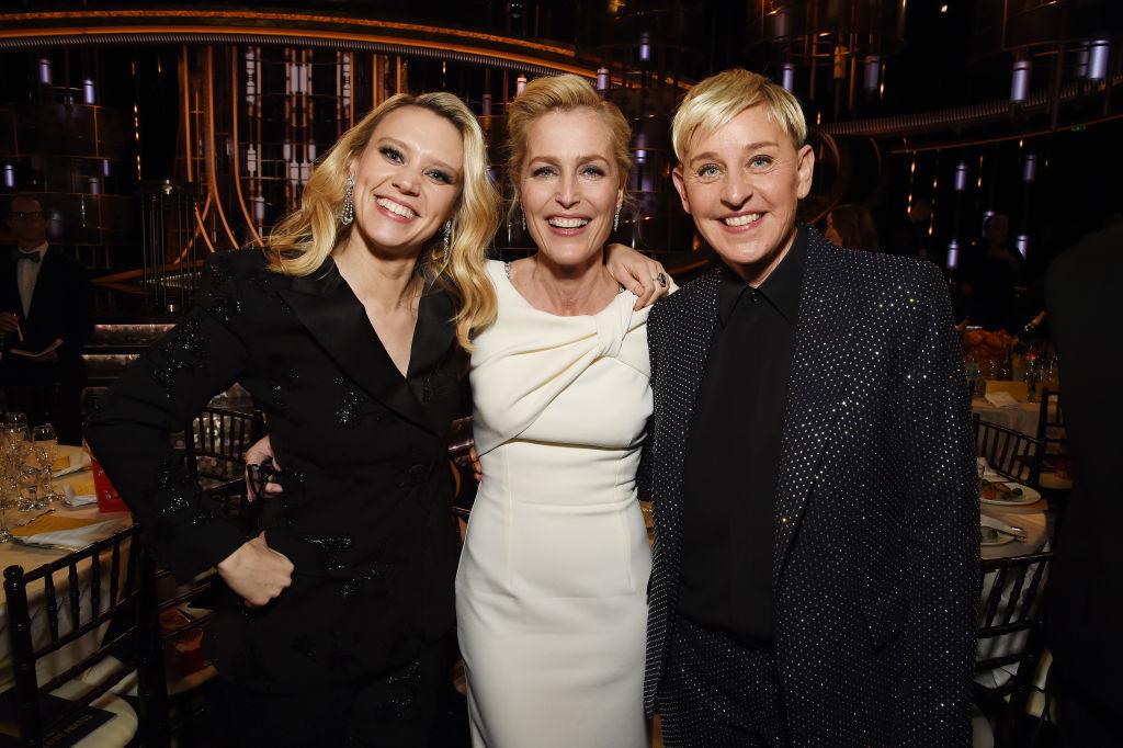 Kate McKinnon, Gillian Anderson, Ellen DeGeneres (Fotó: Getty Images)