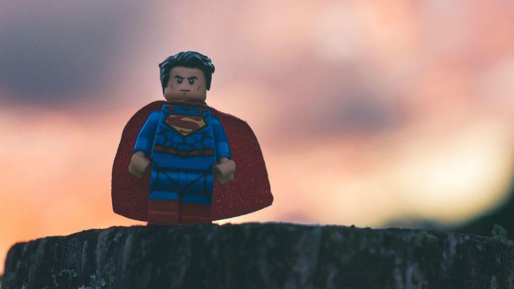 szuperhős superman lego