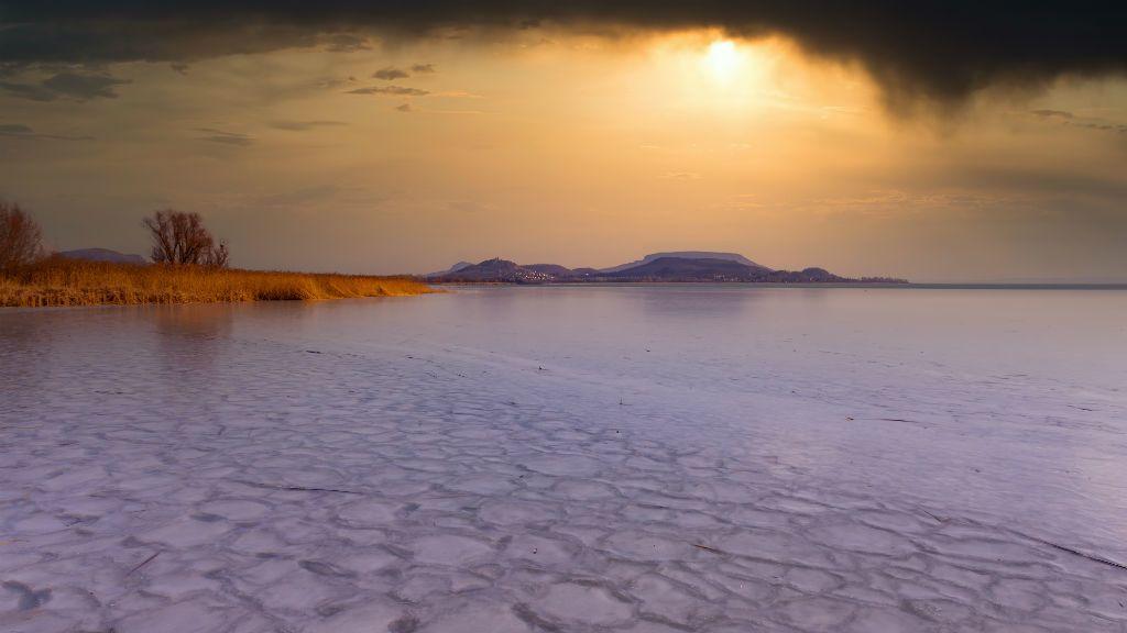balaton jég befagyott tél