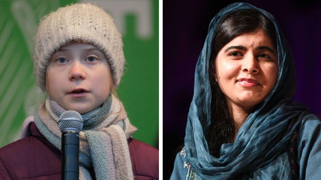 Greta Thunberg Malala Juszafzai