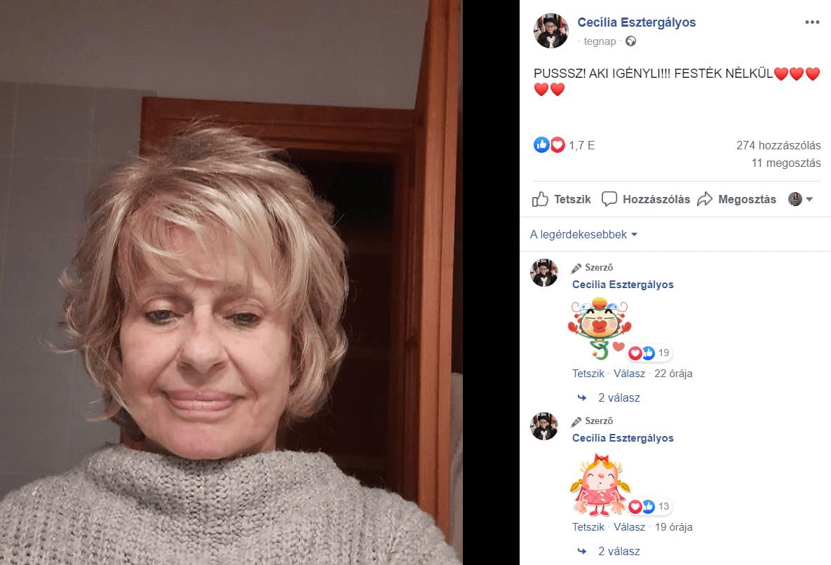 A 77 éves Esztergályos Cecília smink nélküli fotója nagy sikert aratott