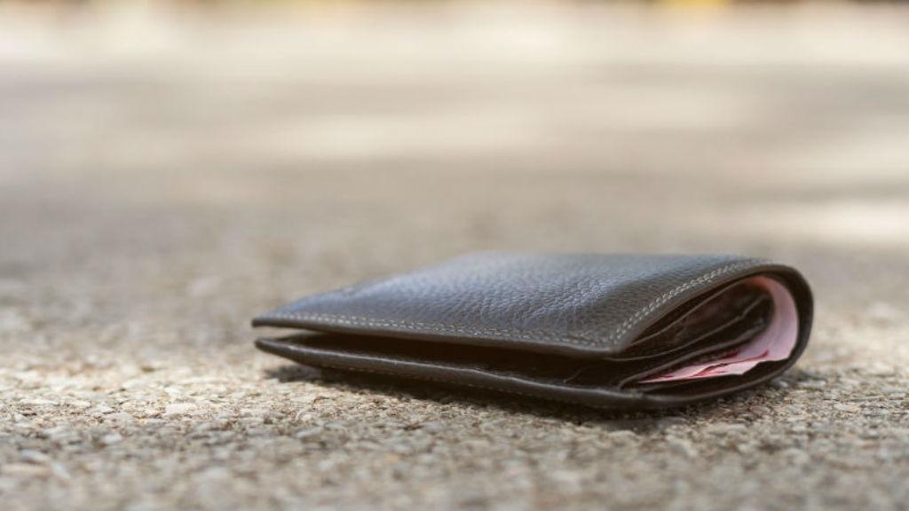 elhagyott pénztárca