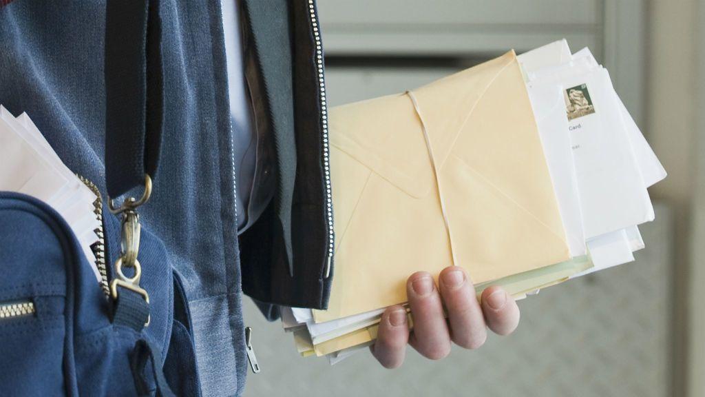 posta postás levél