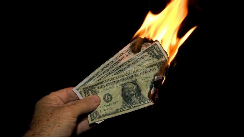 pénz égetés