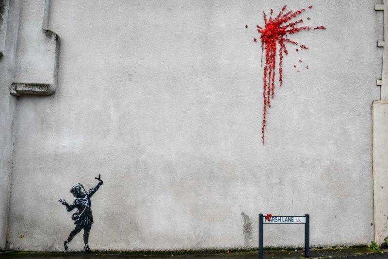 Banksy bristol valentin-nap