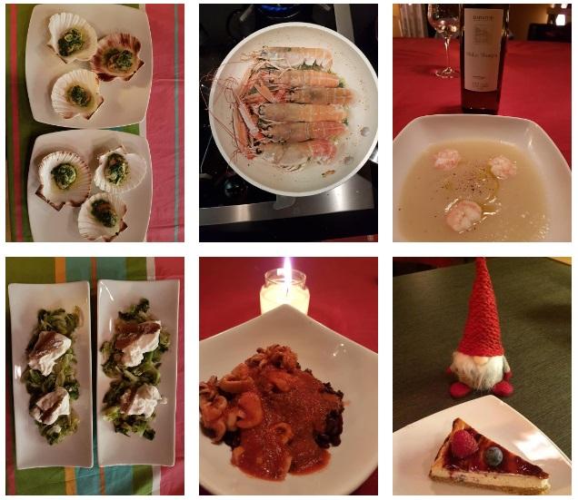 A főzéssel töltött szilveszteréjszaka gyümölcse (Fotó: Host&Cook blog)