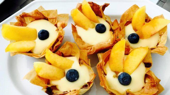Vaníliás kosárka desszert (A szerző fotója)