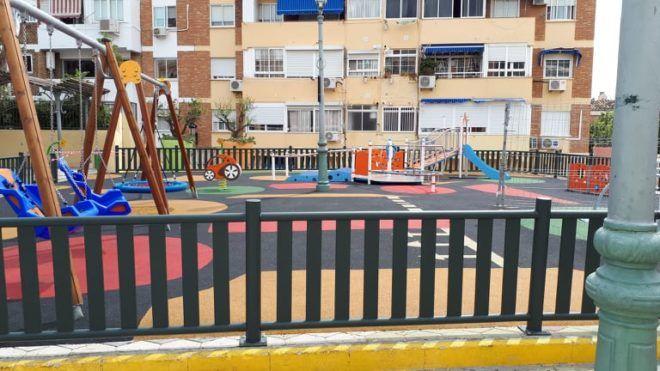 A játszótereket is lezárták Malagában (Fotó: Soós Laura)