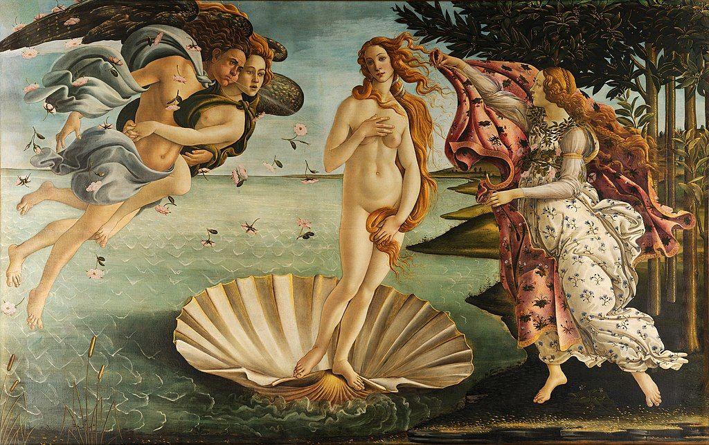 Botticelli: Vénusz születése (forrás: Wikipedia)