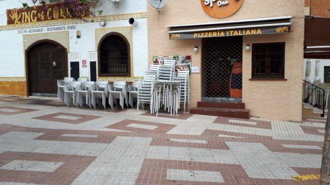 Bezárt étterem Malagában (Fotó: Soós Laura)