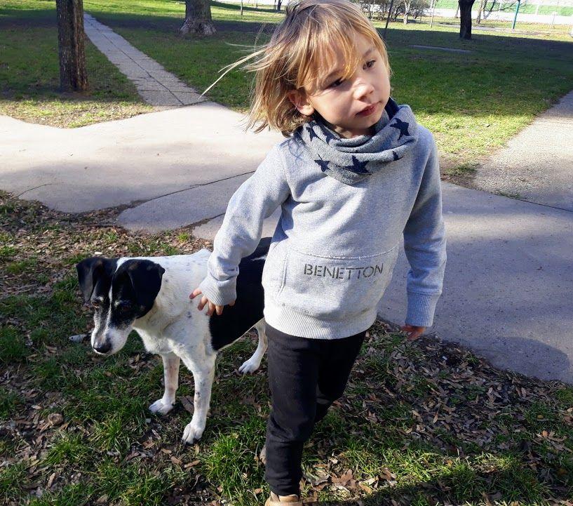 Amikor még lehetett együtt sétálni, mostanában Bingó gyerekek nélkül megy le