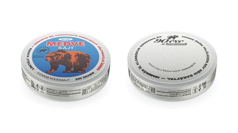 A Medve sajt régi-új csomagolása