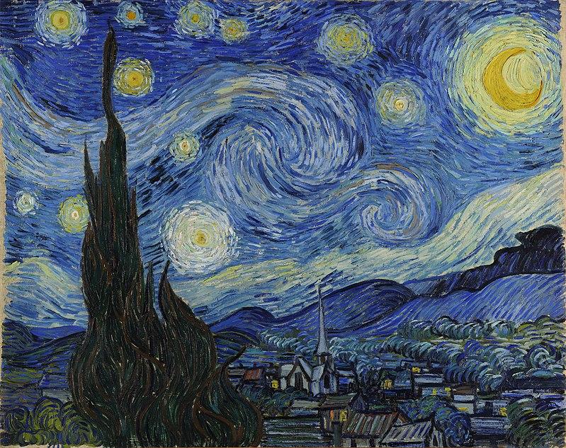 Van Gogh: Csillagos éj (forrás: Wikipedia)