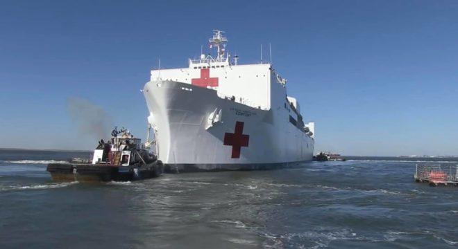 A hajó kapacitása egész elképesztő, fedélzetén 1300 fős orvosi és ápolószemélyzet biztosítja az ellátást. - Fotó: OMSZ
