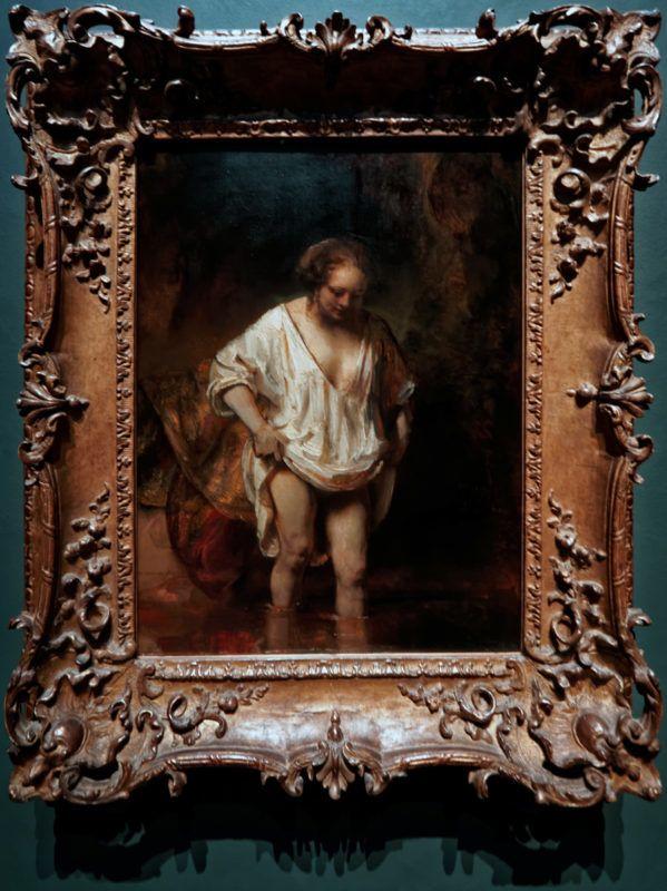 Rembrandt - A fürdőző, 1654 (Fotó: Txllxt TxllxT - Own work, CC BY-SA 4.0)