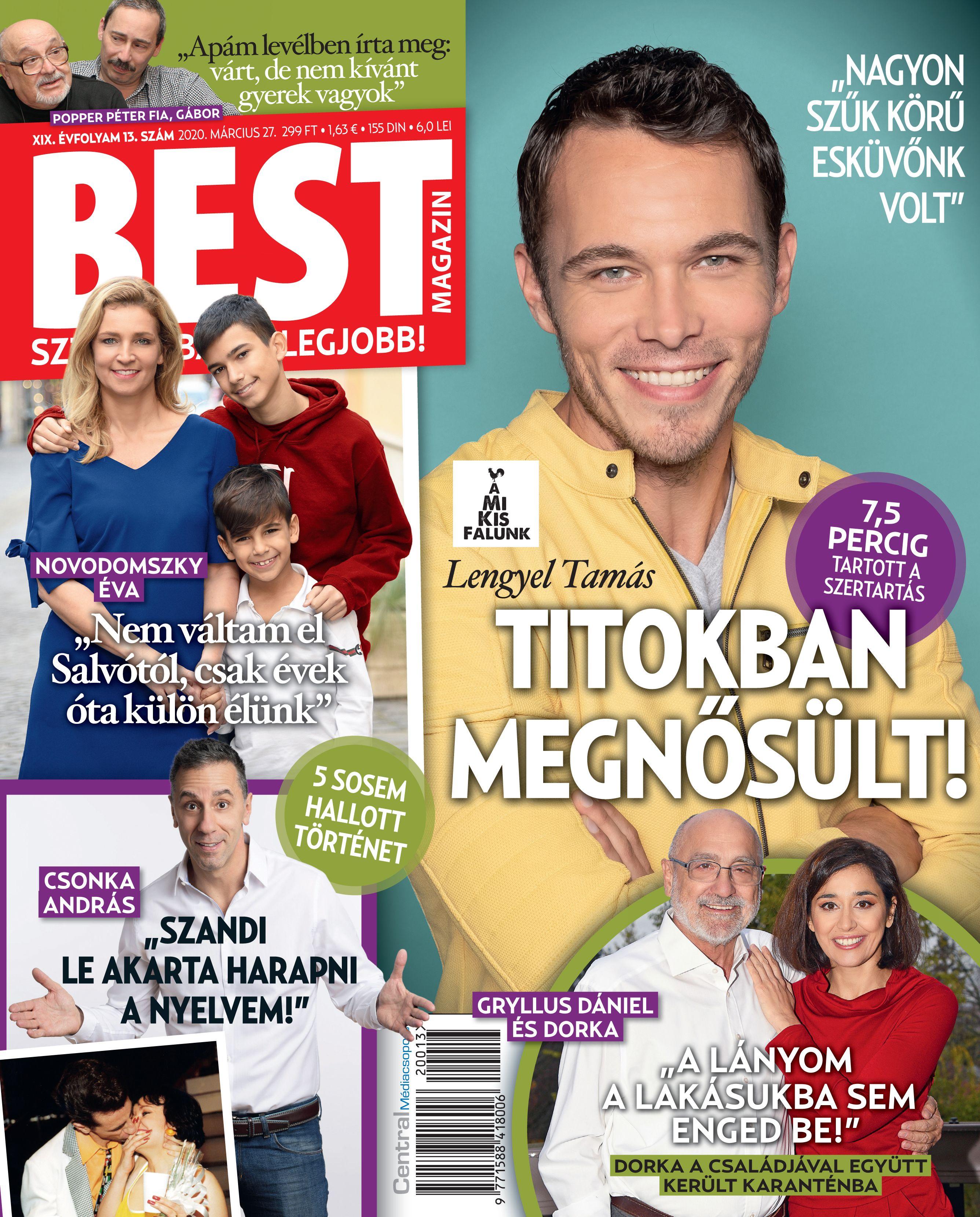 A BEST magazinban olvasható az interjú Lengyel Tamással