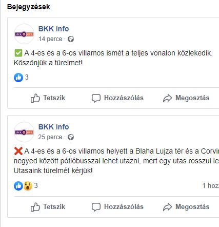 ŐJ BKK Facebook oldal