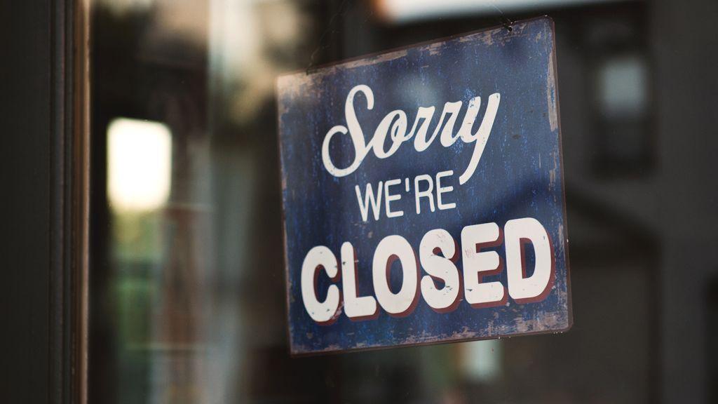 üzlet, zárva
