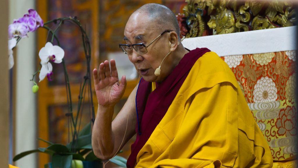 Őszentsége, a Dalai Láma üzenete a világhoz 2020. március 30-án (fotó: Getty)