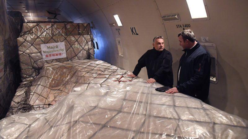Orbán koronavírus maszk teszt szállítmány