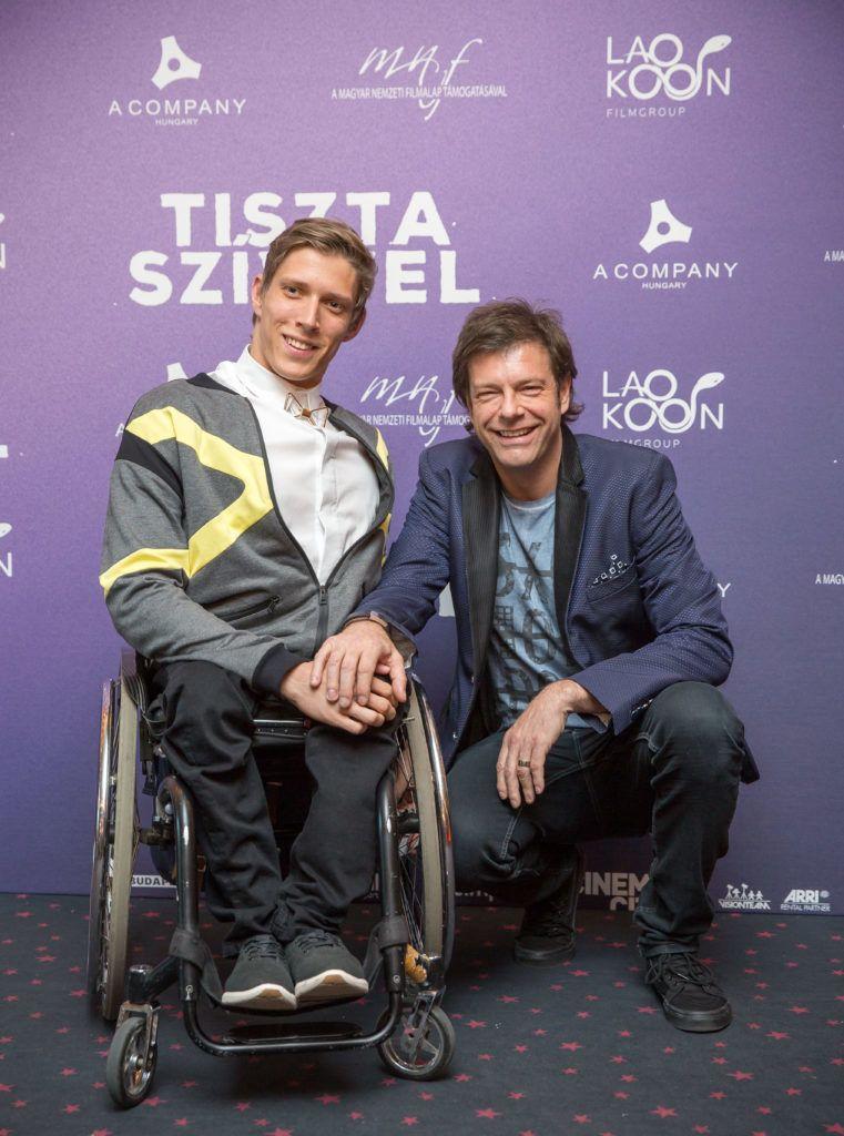 Fenyvesi Zoltán és Till Attila A tiszta szívvel c. film bemutatóján (Fotó: Birton Szabolcs/smagpictures.com)