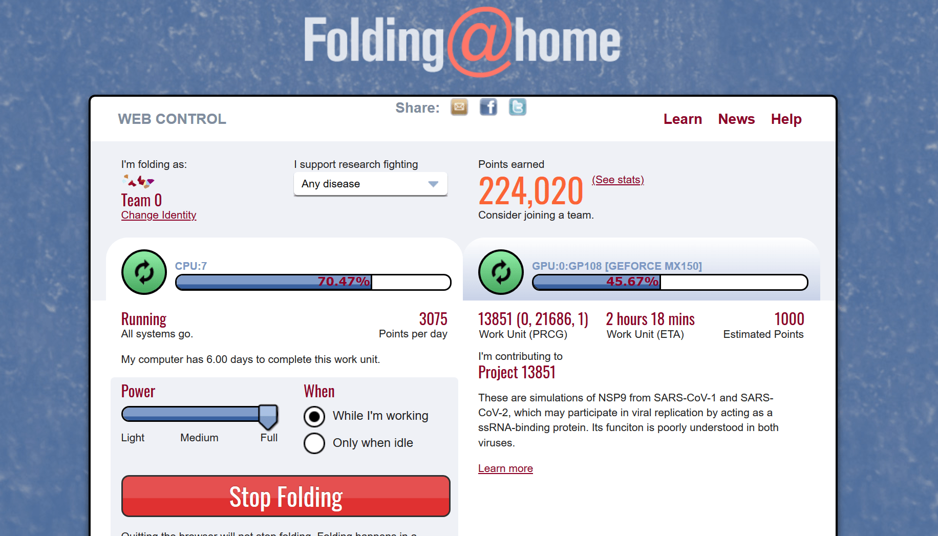 A Folding@home projektben bárki részt vehet, csak számítógépre és internetre van szükség