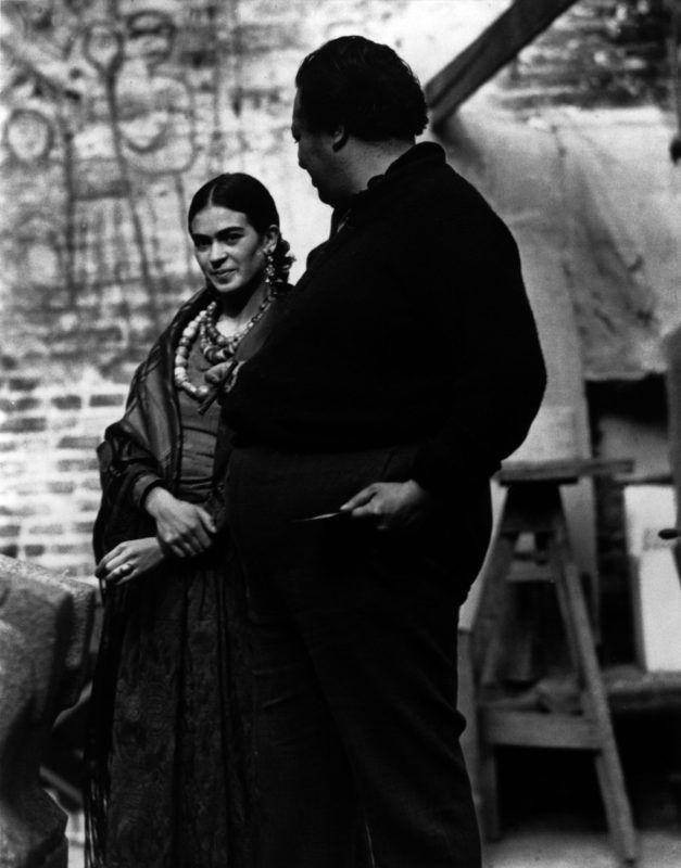 Frida Kahlo és Diego Rivera San Francisco-ban, 1930 körül (Fotó: Edward Weston/AKG/Profimedia)