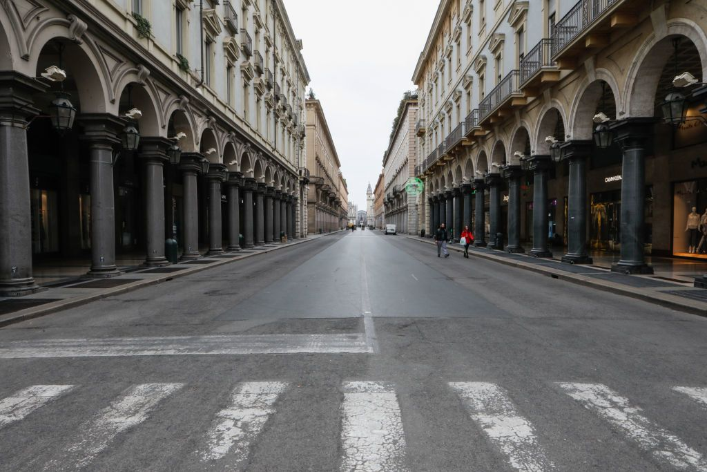 Szellemváros lett Turin a karantén alatt