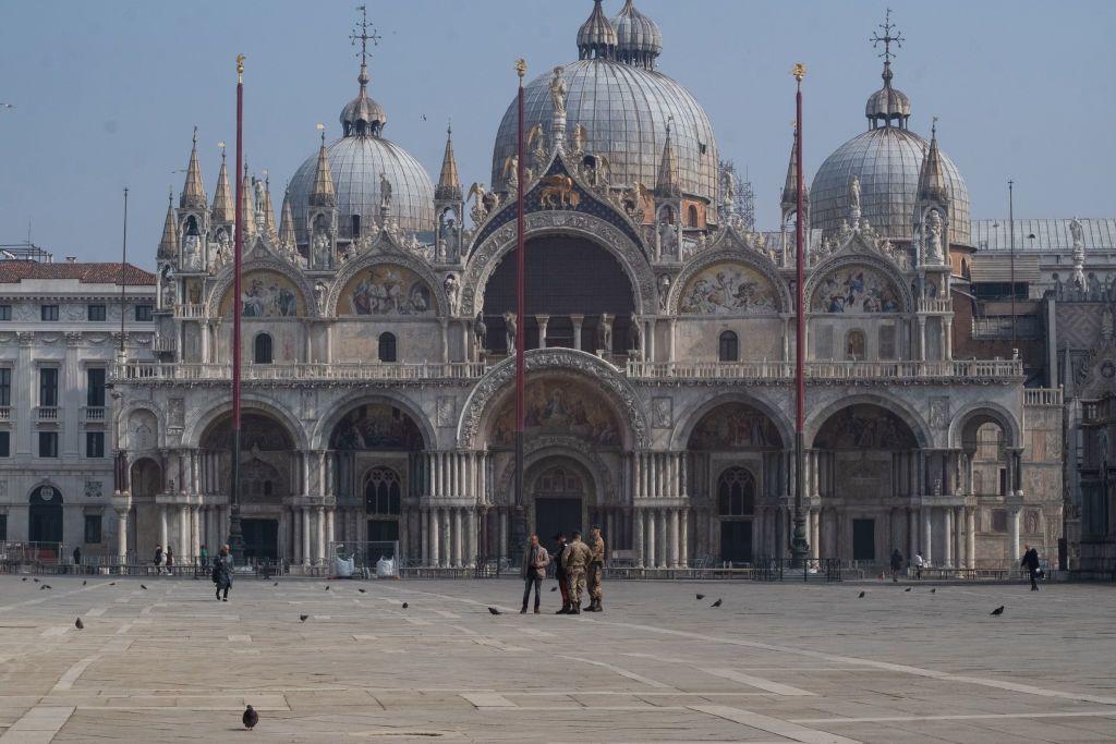 Velence Szent Márk tér a karantén idején