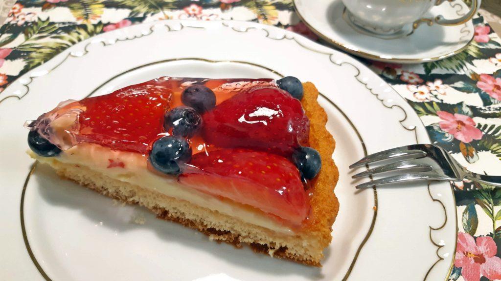 gyümölcstorta szelet (Fotó: Belső Olga)