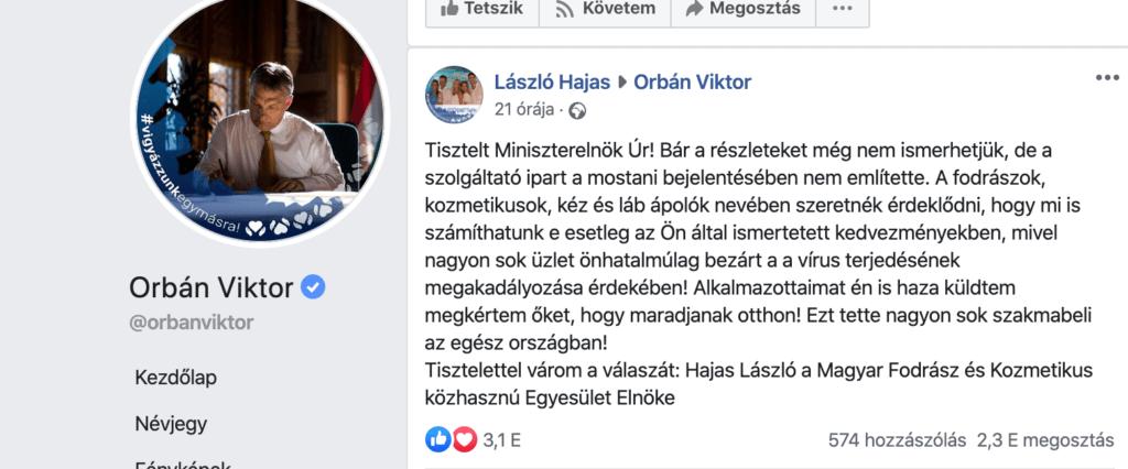 Hajas László üzent Orbán Viktornak