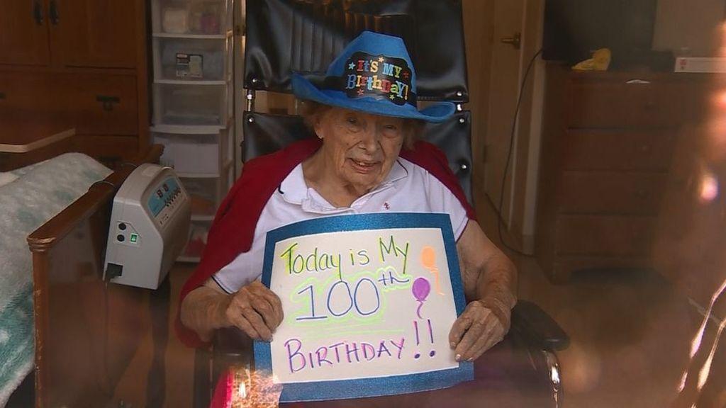 Idős nő karantén