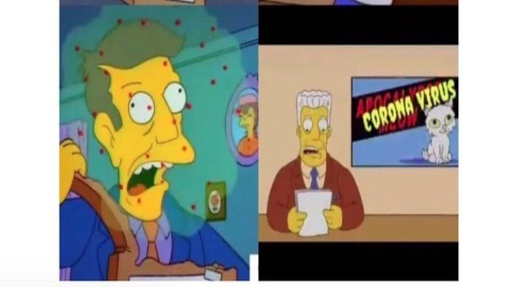 A koronavírus-kitörése okozta őrület közepén a közösségi médiában elterjedt a hír, hogy a Simpson már 1993-ban előre megjósolta a járványt. Fotó: Twitter