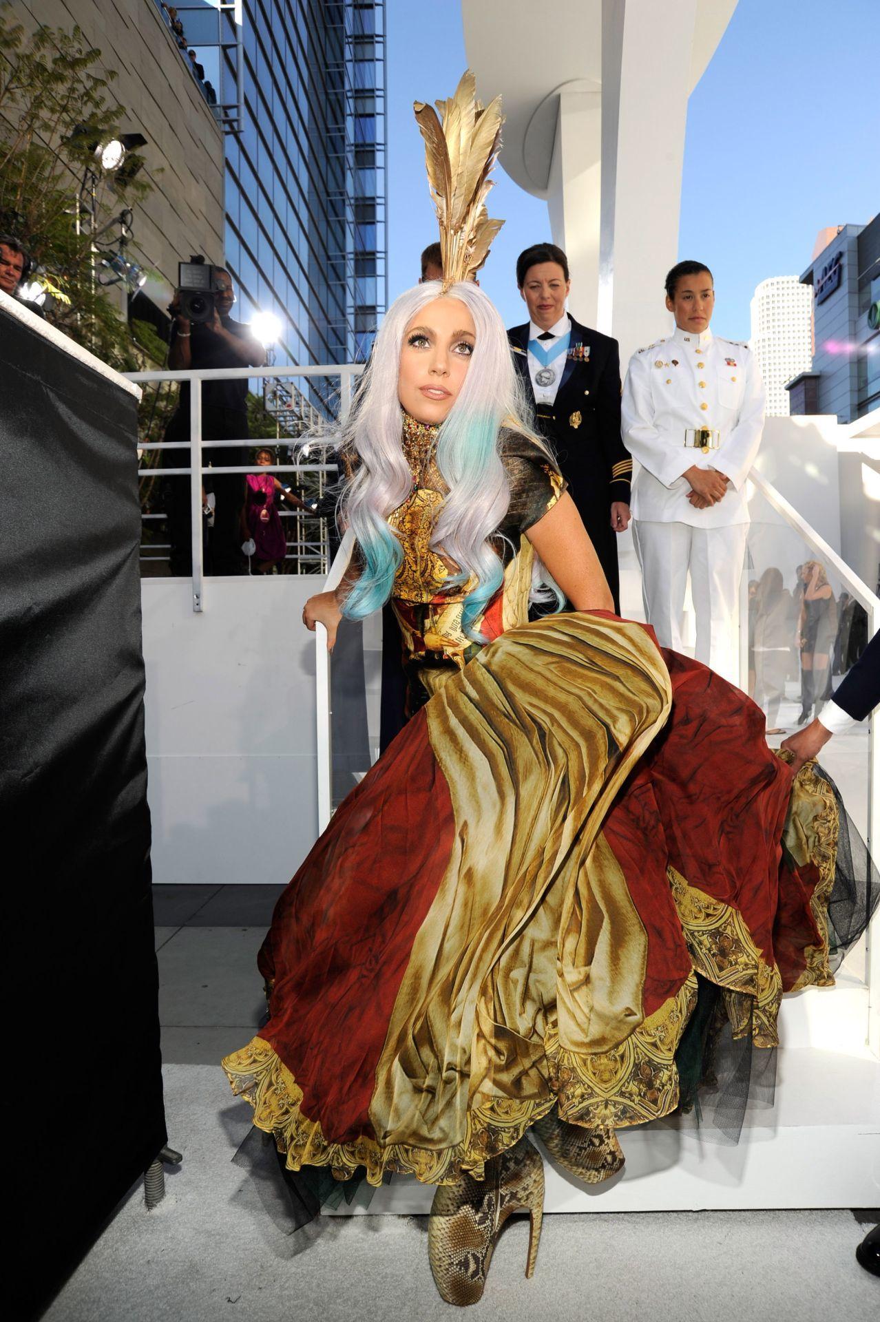 Lady Gaga a 2010-es MTV VMA-n (Fotó: Getty Images)