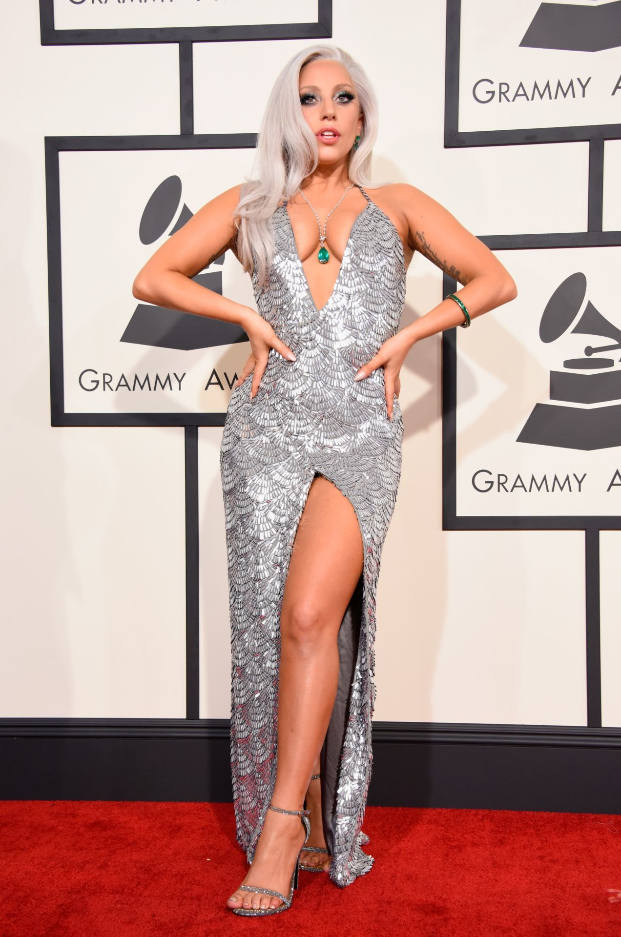 Lady Gaga a 2015-ös Grammy-gálán.