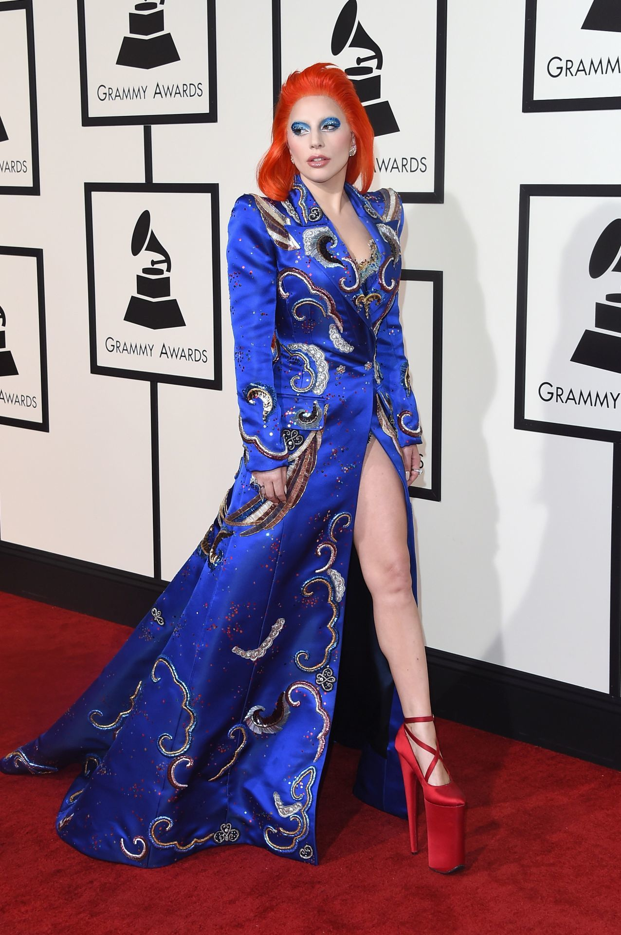 Lady Gaga a 2016-os Grammy-gálán. (Fotó: Jason Merritt/Getty Images)
