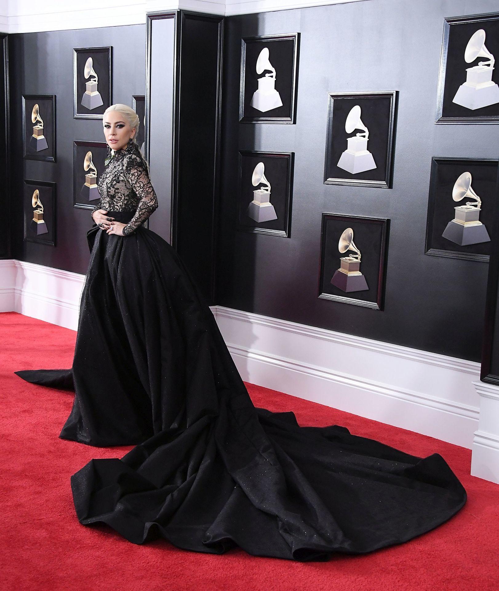 Lady Gaga a 2018-as Grammy-gálán (Fotó: Steve Granitz/WireImage)