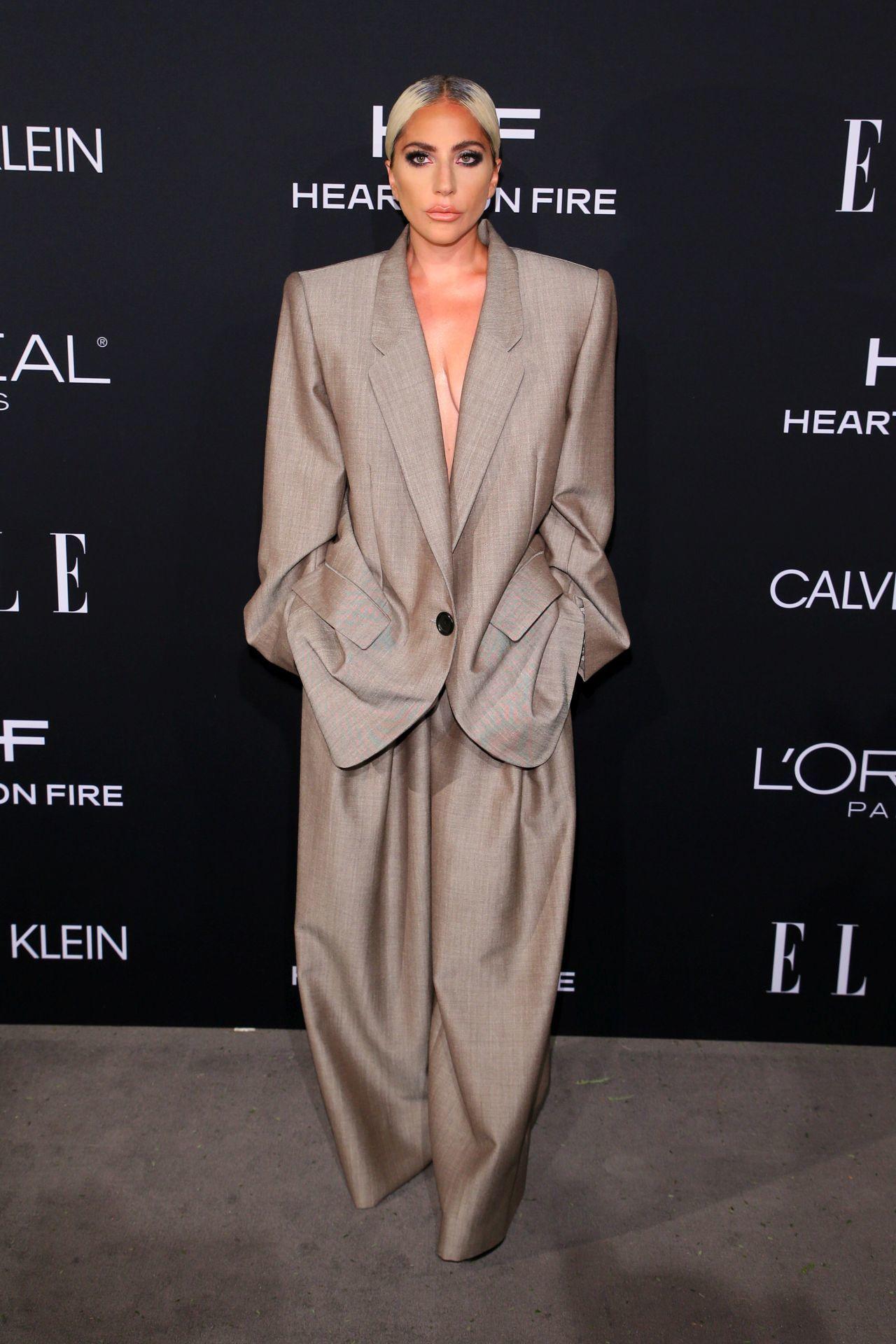 Lady Gaga az ELLE magazin Los Angeles-i rendezvényén 2018-ban.