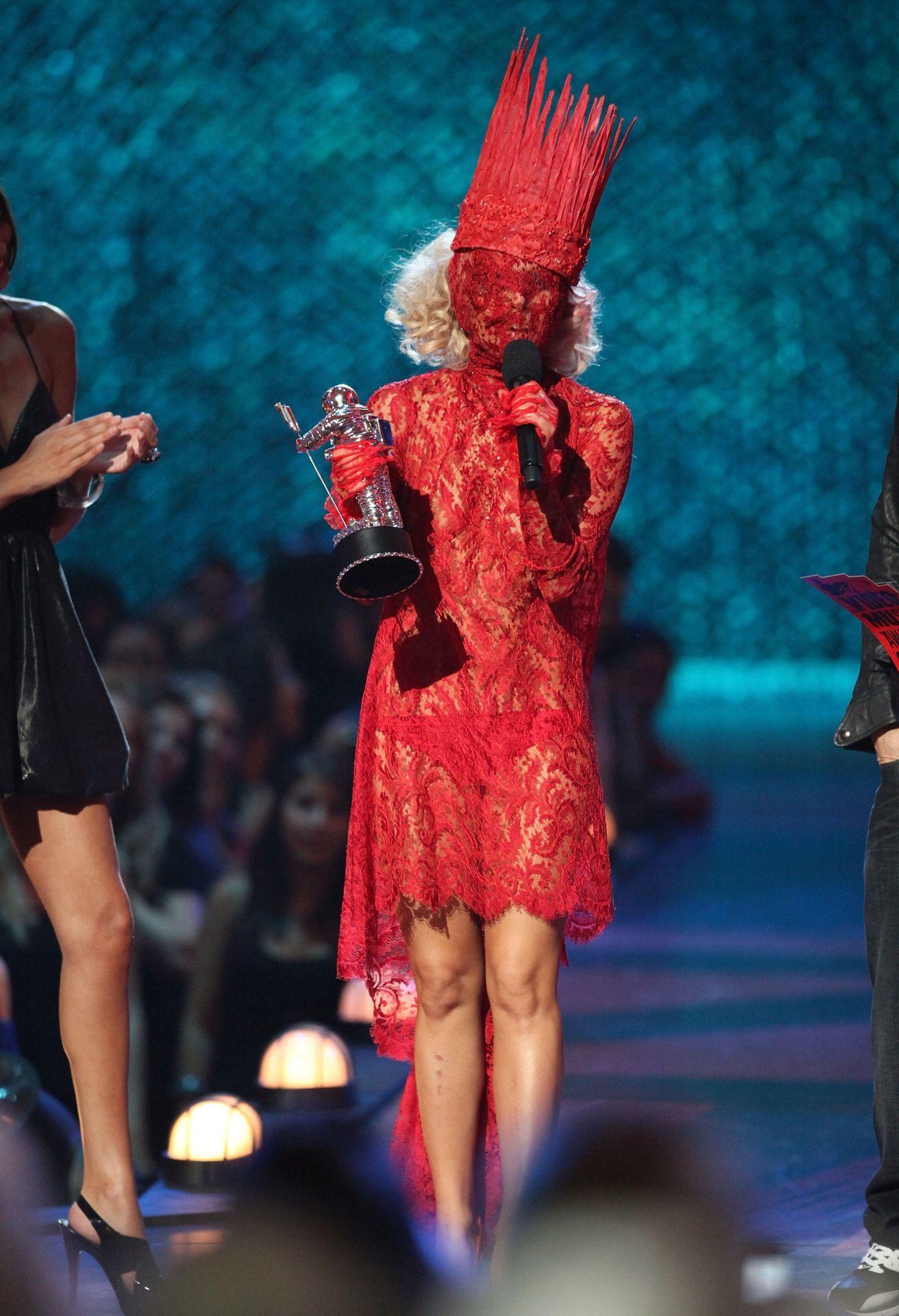 Lady Gaga szintén a 2009-es MTV VMA-n.