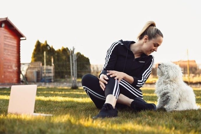 Kiss Ramóna otthon edz (Fotó: Adidas)
