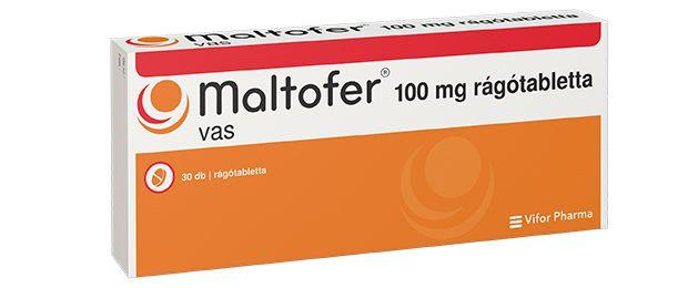 Vény nélkül kapható, vas-hidroxid-polimaltóz-komplex tartalmú gyógyszer.