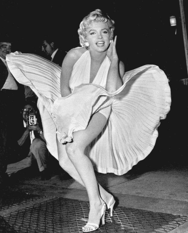 """Monroe híres szoknyás fotója a """"The Seven Year Itch"""" forgatásáról (Fotó: Corpus Christi Caller-Times-photo from Associated Press - AP Photo/Matty Zimmerman, file)"""