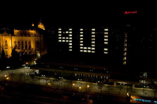 A Marriott is csatlakozott a szolidaritási akcióhoz - Fotó: Lénárd Tamás