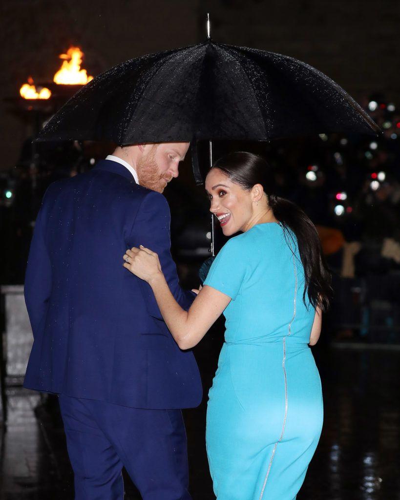 Ez is megvolt: Harry herceg és Meghan Markle a díjátadón búcsúzott a nyilvános szerepléstől (Fotó: Neil Mockford / Ricky Vigil M/GC Images)