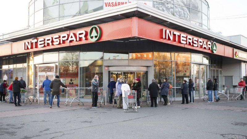 koronavírus élelmiszerbolt vásárlás